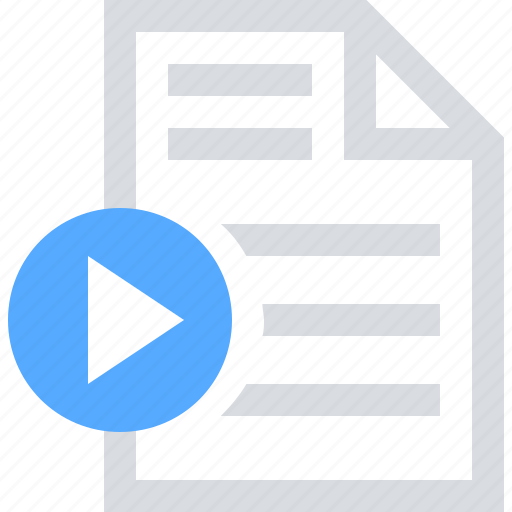 extension, file, media, movie, play, video icon