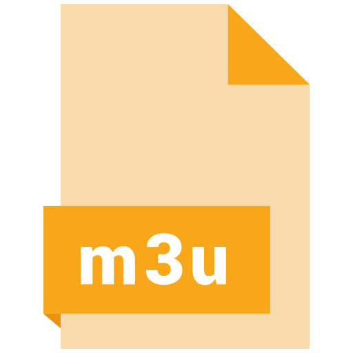 document, extension, file, format, m3u icon