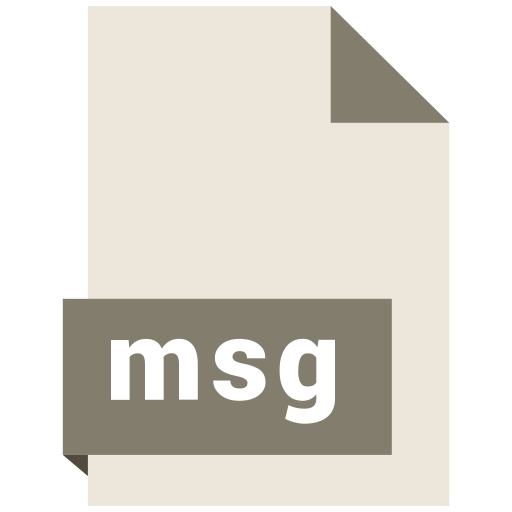 document, extension, file, format, msg icon