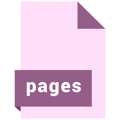 document, extension, file, format, pages icon