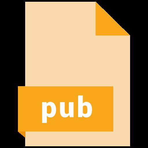 document, extension, file, format, pub icon