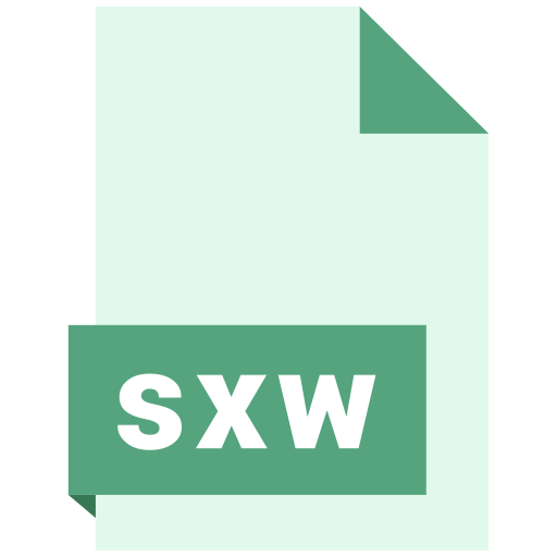 document, extension, file, format, sxw icon