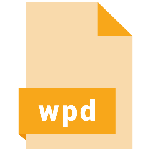 document, extension, file, format, wpd icon