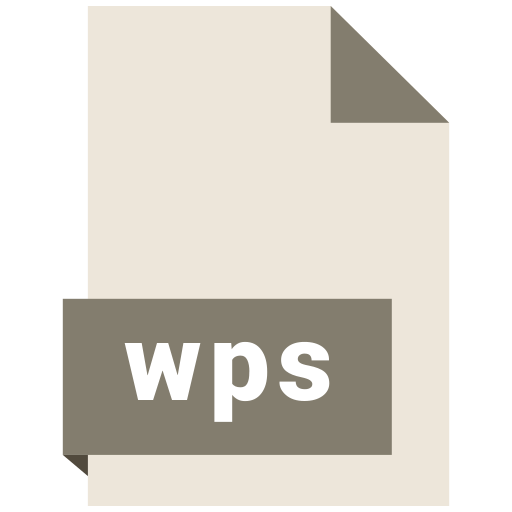 document, extension, file, format, wps icon