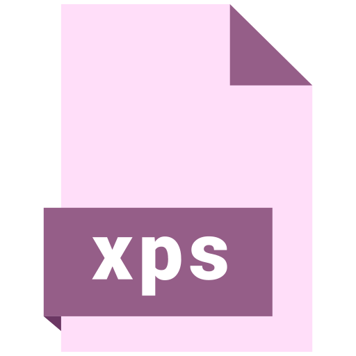 document, extension, file, format, xps icon