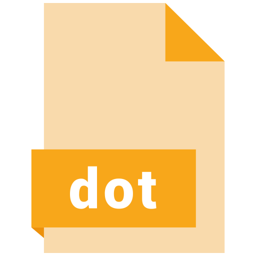 document, dot, extension, file, format icon