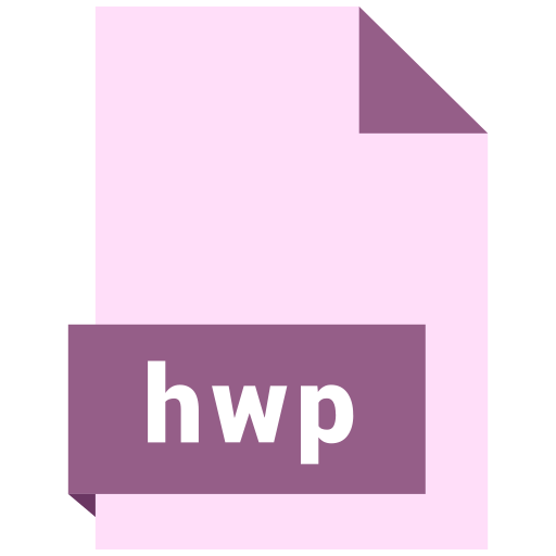 document, extension, file, format, hwp icon