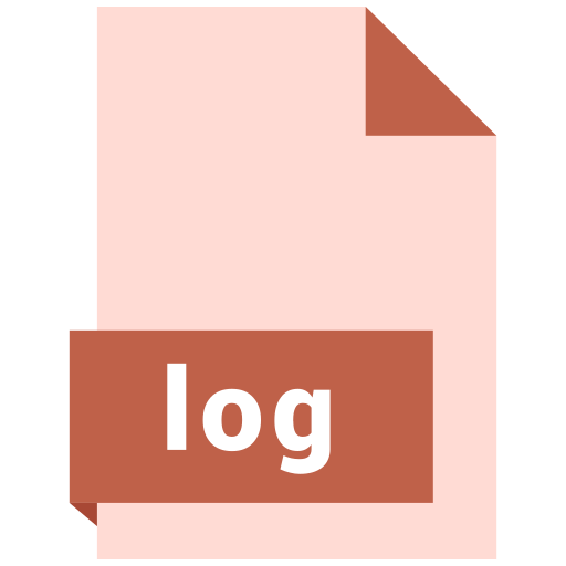 document, extension, file, format, log icon
