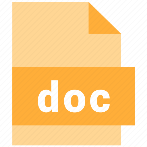 doc, extension, file, type icon