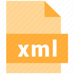 extension, file, file format, xml icon