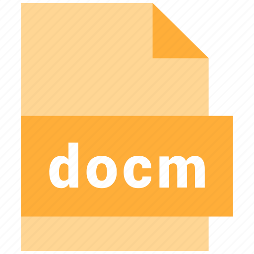 docm, document, file, format, type icon