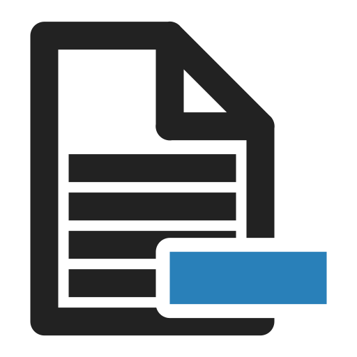 file, files, minus, page, sheet, text icon