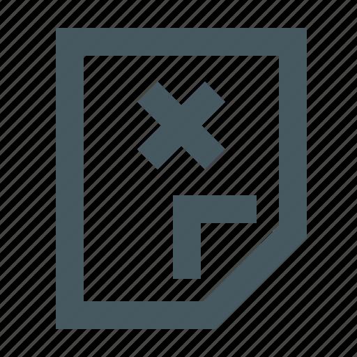 delete document, document, documents, file, files, gizmo, letter, paper, simple icon