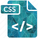 css, document, extension, page, type icon