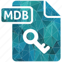 document, extension, mdb, page, type icon