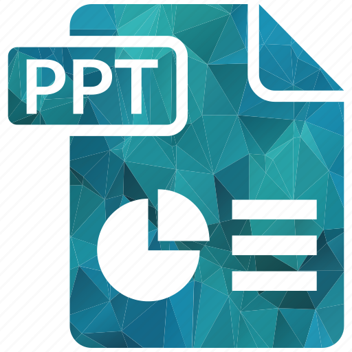 document, extension, page, ppt, type icon