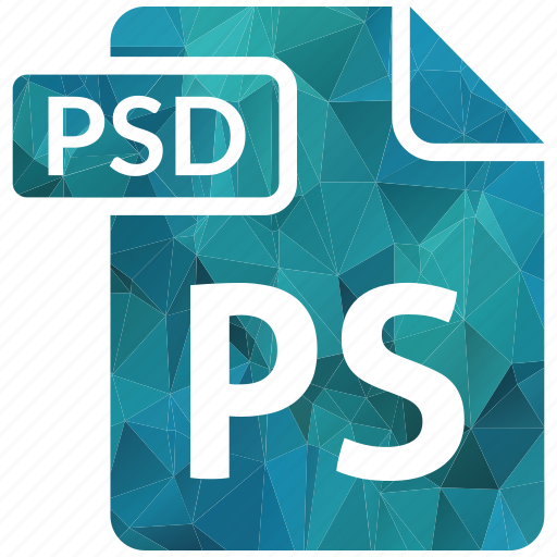 document, extension, page, psd, type icon