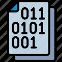 binary, code, document, documentation, files, note
