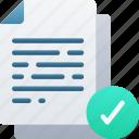 correct, document, documentation, files, note, tick