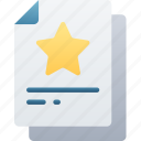 document, documentation, favourite, files, note, star