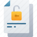 document, documentation, files, note, unlocked, unsecure