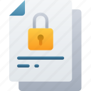 document, documentation, files, locked, note, secure