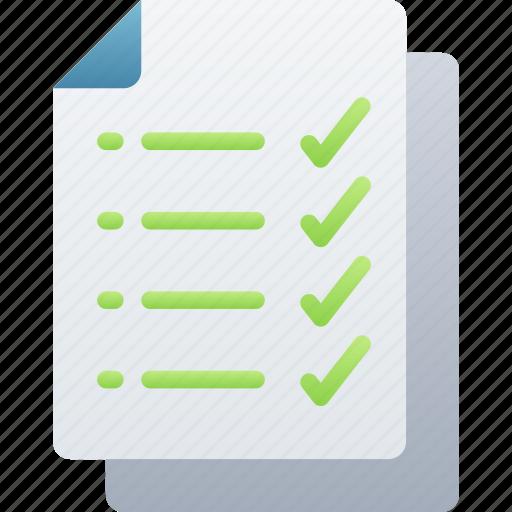 Checklist, documentation, files, note, tick icon - Download on Iconfinder