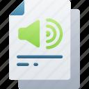 audio, document, documentation, files, note, sound