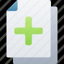add, document, documentation, files, note, plus