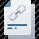 document, documentation, files, hyperlink, linked, note