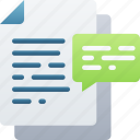 comments, document, documentation, files, note, notes icon