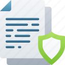 document, documentation, files, note, secure, shield