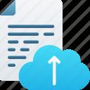 cloud, document, documentation, files, icloud, note, upload
