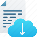 cloud, document, documentation, download, files, icloud, note