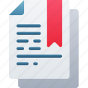 bookmarked, document, documentation, files, note, saved