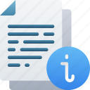 document, documentation, files, info, information, note icon