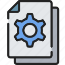 document, documentation, files, note, options, settings icon