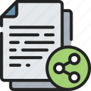 document, documentation, files, note, share, social icon