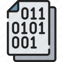 binary, code, document, documentation, files, note icon