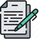 document, documentation, files, note, sign, signature icon