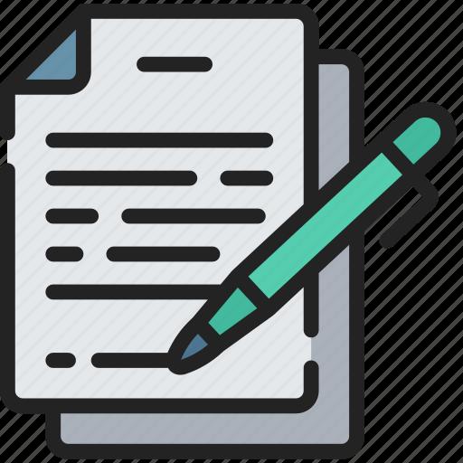 document, documentation, files, note, sign, signature icon