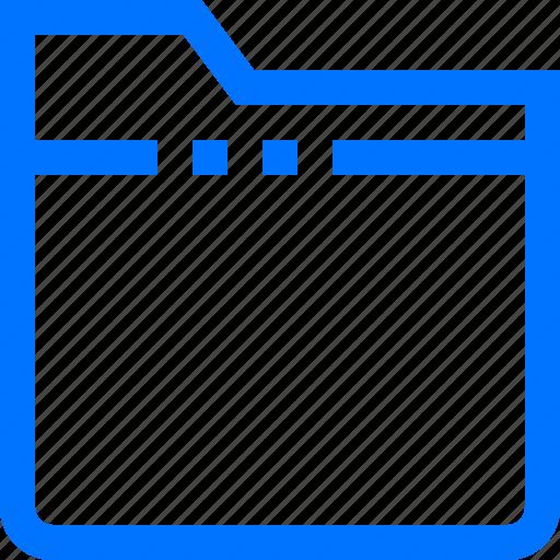 closed, documents, empty, file, folder icon