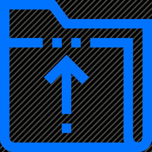 data, documents, export, file, folder, up, upload icon