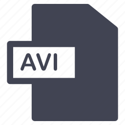 avi, document, extension, file, format icon