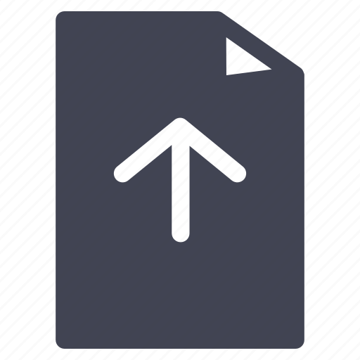 arrow, document, file, move, up, upload icon