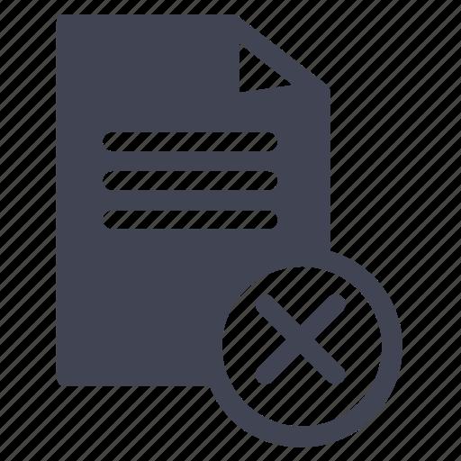 cancel, delete, document, documents, file, remove icon
