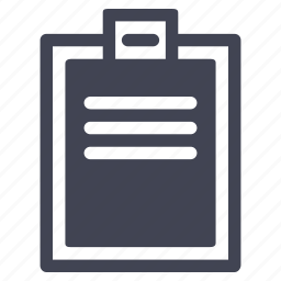 checklist, clipboard, document, documents, file icon