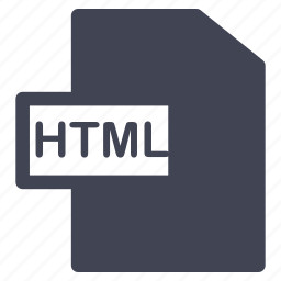 document, documents, extension, file, format, html icon