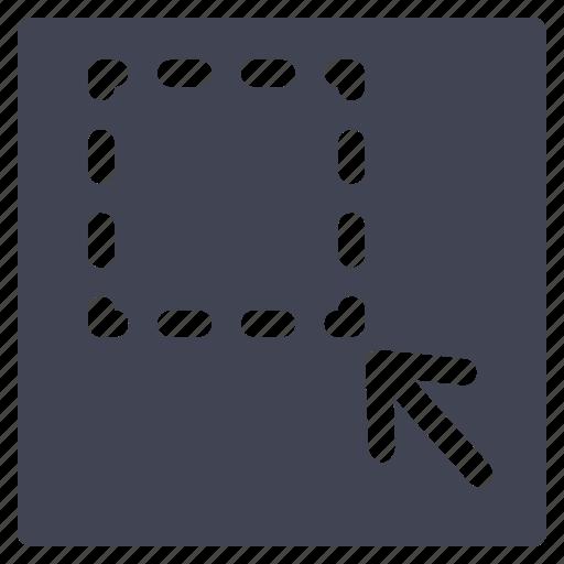 arrow, documents, left, minimize, resize, square icon