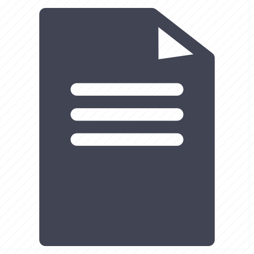 document, documents, file, format, paper, text icon